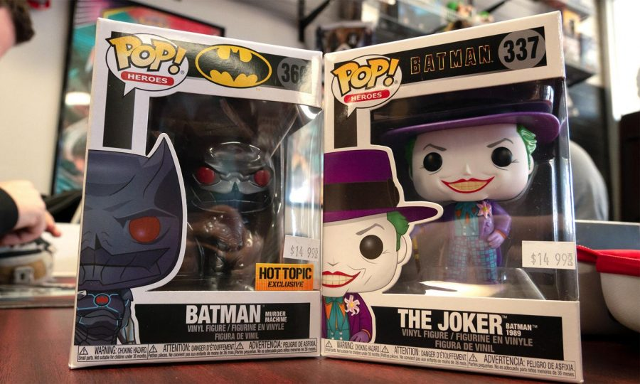 "Two Funko POP figures sit together awaiting to be stocked on the shelves at RND Collectibles Thursday, Mar. 4, 2021, in Carbondale, Ill. ""It's pop culture man, I think that's why people love it. You know, anything you can think of there's probably a POP figure of it. It's just an easy way to enjoy your fandom,"" Randy Arena, owner of RND Collectibles said."
