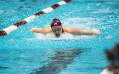 Southern Illinois swimming and diving hosted a tri-meet against Little Rock and Valparaiso at Shea Natatorium on March 12, 2021 in Carbondale, Ill.
