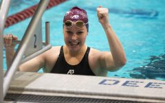 Southern Illinois swimming and diving hosted a tri-meet against Little Rock and Valparaiso at Shea Natatorium on Mar. 12, 2021 in Carbondale, Ill.