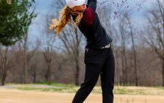 Erica Kerr tees off at the Battle Between Southern and Bradley March 14, 2021, at Hickory Ridge Golf Course in Carbondale, Ill.