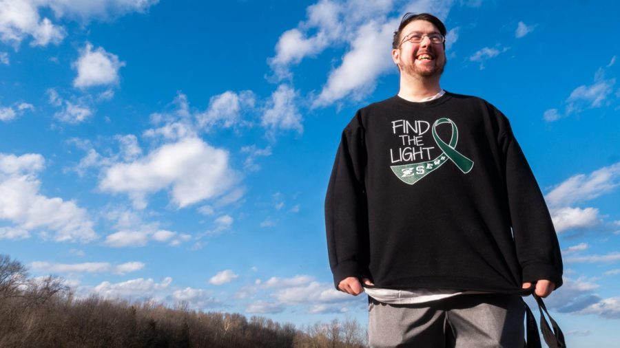Justin Schneider of Carbondale, Ill, poses for his portrait Friday, February 5, 2021 in Carbondale, Ill.