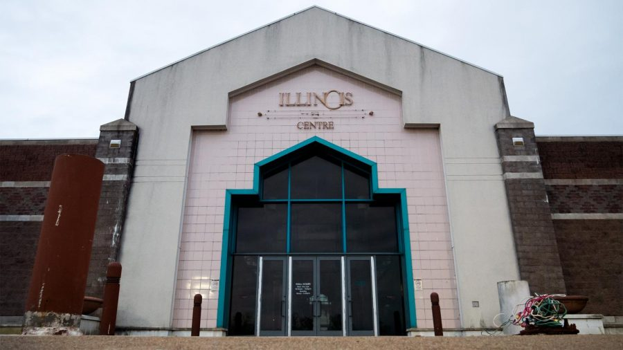 The Illinois Centre Mall sits empty Thursday, April 8, 2021, in Marion, Ill. Now the Oasis Event Center, the mall will be hosting JUNKFest, an artisan market that hosts vendors that sell their homemade wares.