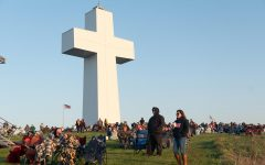 Over 2000 people attend the Easter Day Sunrise Service  at Bald Knob Cross on Sunday, April 4, 2021 in Alto Pass, Ill. The service started at 6.30 a.m. and ended at 8 a.m.