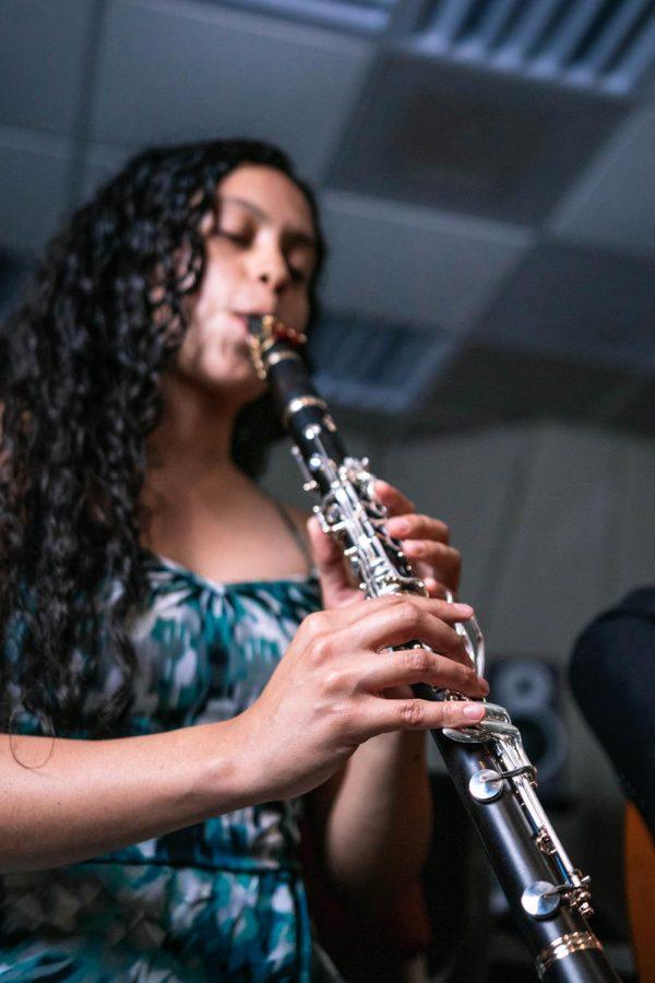Gloria Inés Orozco Dorado plays the Clarinet Saturday, April 10, 2021 at SIU. Dorado is an international student from Columbia.