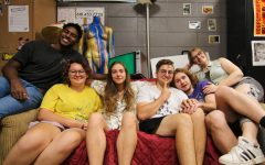 (Pictured from Left to Right) Kylen Lunn, Sara Davis, Hannah Friedman, Ara J. Rice, Brock Mills, and Devin Welchman; the six staff members of Alt News 26:46 sitting in the Alt News editing space called The Loft located in the Communications building at Southern Illinois University of Carbondale.