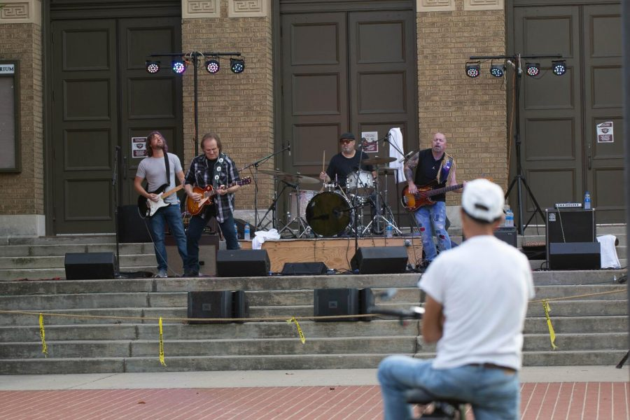 Rocky Athas performs at SIUs second Sunset Concert event July 29, 2021 at Shryock Auditorium.