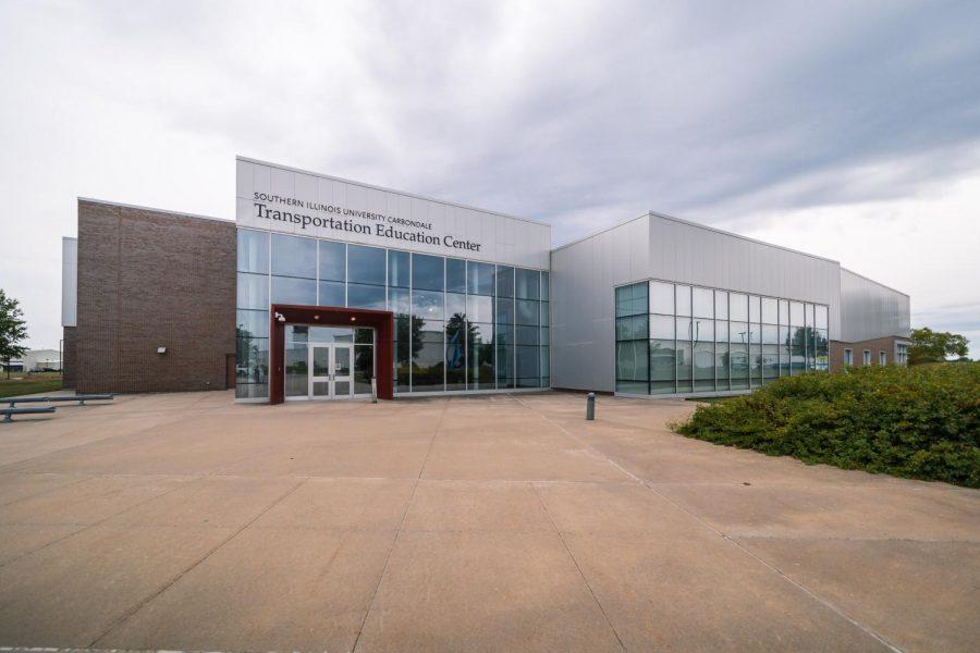 The SIU Transportation Education Center building faces the runway Sept. 3, 2021 in Murphysboro, Ill.