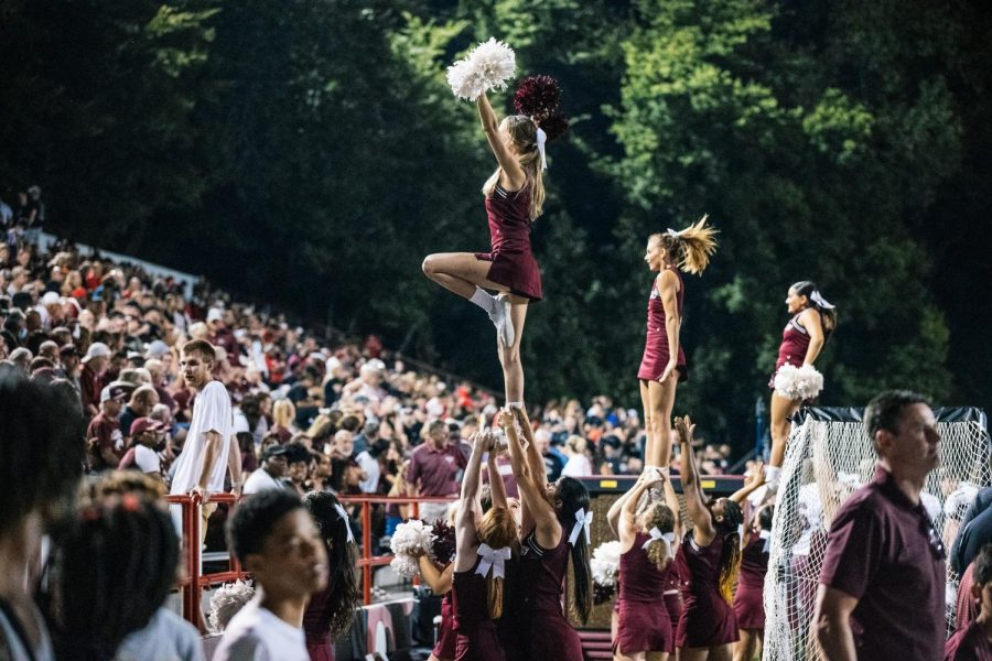 SIUs Spirit Team performs for fans Sept. 2, 2021 at Houck Stadium in Cape Girardeau, Mo.