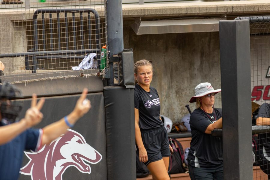 SIUs new assistant coach, Maddy Vermejan, made her coaching debut during the doubleheader games vs. Three River Community College on Sunday, Sept. 19, 2021 at the Charlotte West Stadium in Carbondale, Illinois. Vermejan, a four-time All-Missouri Valley Conference selection, was brought onto the SIU softball staff as an assistant coach, that will coach first base, during the 2021-2022 season after being a five year starter with the team. Vermejan holds SIUs records in on-base percentage, runs scored, hit by pitches, and stolen bases in a single-season