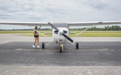 Tyne Haverkate completes her preflight on the Cessna 172R at the Southern Illinois Airport Set. 3, 2021 in Murphysboro, Ill.