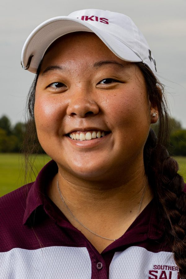 SIU golfer Moyea Russell stands for a portrait on Friday, Oct. 1, 2021 at Hickory Ridge Public Golf Course in Carbondale, Illinois. Russell, who was named MVC golfer of the week recipient in late September, after hitting three rounds of 74, 73, and 74 for a total score of 221 (+5) to tie for eight place overall.